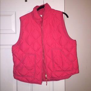 EUC XXL neon pink j crew factory vest